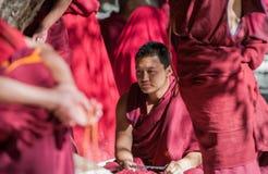 Ένας λάμα στο ναό της Sela, Θιβέτ, Κίνα στοκ εικόνες