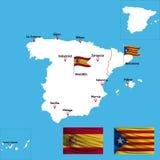 Ένας λεπτομερής χάρτης της Ισπανίας απεικόνιση αποθεμάτων