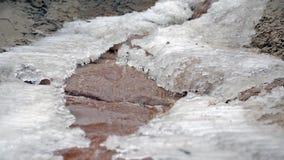 Ένας μαγικός του χειμώνα Λειώνοντας πάγος απόθεμα βίντεο
