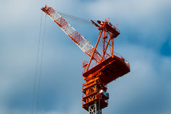 Ένας μεγάλος κόκκινος γερανός Στοκ φωτογραφία με δικαίωμα ελεύθερης χρήσης