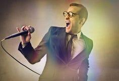 Ένας μεγάλος τραγουδιστής Στοκ εικόνες με δικαίωμα ελεύθερης χρήσης