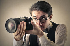 Ένας μεγάλος φωτογράφος Στοκ φωτογραφίες με δικαίωμα ελεύθερης χρήσης