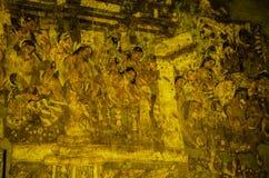 Ένας με τα έργα ζωγραφικής σπηλιών Στοκ φωτογραφία με δικαίωμα ελεύθερης χρήσης