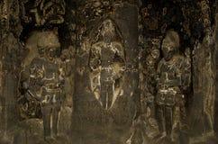 Ένας με τα γλυπτά σπηλιών Στοκ Φωτογραφία