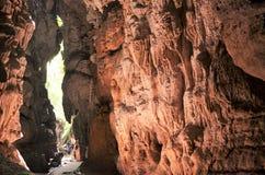 Ένας με τις σπηλιές ασβεστόλιθων Στοκ Εικόνες
