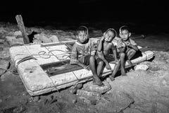 Ένας μη αναγνωρισμένος μαίανδρος παιδιών Στοκ Εικόνες