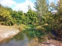 Ένας μικρός αλλά γραφικός ποταμός Στοκ Φωτογραφία
