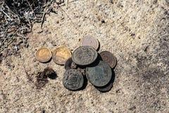 Ένας μικρός αριθμός αρχαίων νομισμάτων στοκ φωτογραφία με δικαίωμα ελεύθερης χρήσης