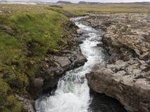 Ένας μικρός καταρράκτης στον ποταμό Skoga Στοκ Εικόνες