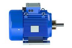 Ένας μπλε βιομηχανικός ηλεκτρικός κινητήρας τρισδιάστατος ελεύθερη απεικόνιση δικαιώματος