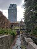 Ένας μυστικός κήπος στο Μόντρεαλ στοκ φωτογραφία