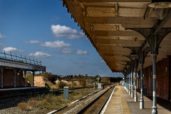 Ένας μόνος σιδηροδρομικός σταθμός Bury ST Edmunds Στοκ Εικόνες