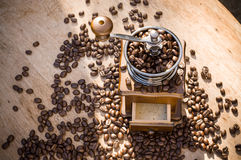Ένας μύλος καφέ με το φυσικό φως Στοκ φωτογραφία με δικαίωμα ελεύθερης χρήσης