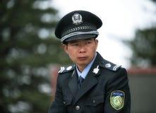 Ένας νέος αστυνομικός σε Huangshan, Anhui Κίνα Στοκ Εικόνες