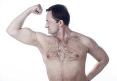 Ένας νεαρός άνδρας με έναν γυμνός-chested στοκ φωτογραφία με δικαίωμα ελεύθερης χρήσης