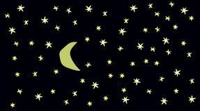 Ένας νυχτερινός ουρανός Στοκ Εικόνα