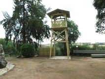 Ένας ξύλινος πύργος στοκ φωτογραφίες