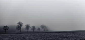 Ένας ομιχλώδης δρόμος στη Γερμανία Στοκ φωτογραφία με δικαίωμα ελεύθερης χρήσης
