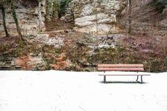 Ένας πάγκος στο χιόνι Στοκ φωτογραφίες με δικαίωμα ελεύθερης χρήσης