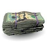 Ένας παχύς σωρός των λογαριασμών 20 δολαρίων απεικόνιση αποθεμάτων