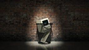 Ένας παλαιός εκλεκτής ποιότητας ξεπερασμένος υπολογιστής ελεύθερη απεικόνιση δικαιώματος