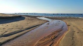 Ένας ποταμός στη θάλασσα Στοκ Εικόνα