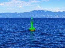 Ένας πράσινος σημαντήρας δεικτών καναλιών Στοκ εικόνα με δικαίωμα ελεύθερης χρήσης