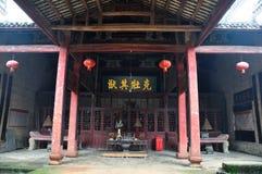Ένας προγονικός ναός σε Pingjiang Στοκ Εικόνες