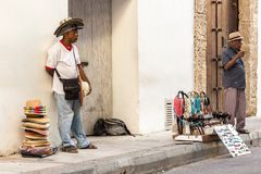 Ένας προμηθευτής καπέλων στην Καρχηδόνα Στοκ φωτογραφία με δικαίωμα ελεύθερης χρήσης