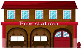 Ένας πυροσβεστικός σταθμός στο άσπρο υπόβαθρο απεικόνιση αποθεμάτων