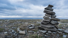 Ένας πύργος των πετρών στην παραλία Στοκ φωτογραφία με δικαίωμα ελεύθερης χρήσης