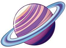 Ένας πλανήτης με μια τροχιά διανυσματική απεικόνιση