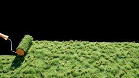 Ένας ρόλος της χλόης στη γη με τις πεταλούδες Βούρτσα της χλόης εικόνες οικολογίας έννοιας πολύ περισσότεροι το χαρτοφυλάκιό μου  απεικόνιση αποθεμάτων