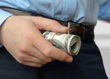Ένας ρόλος του δολαρίου στη διάθεση στοκ εικόνα