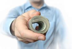 Ένας ρόλος των δολαρίων στη διάθεση στοκ εικόνες