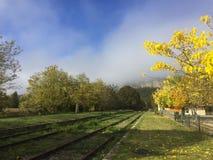Ένας δρόμος ραγών στη νότια Γαλλία στοκ εικόνα