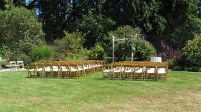 Ένας σαφής και απλός γαμήλιος τόπος συναντήσεως Στοκ φωτογραφία με δικαίωμα ελεύθερης χρήσης