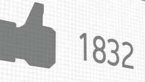 Ένας στενός επάνω πυροβολισμός επιθυμεί να βασιστεί σε μια κοινωνική σελίδα δικτύων Έκδοση προοπτικής διανυσματική απεικόνιση