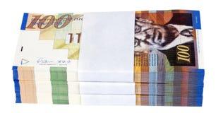 Απομονωμένος 100 σωρός των ΝΑΚ Bill Στοκ Εικόνα