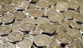 Ένας σωρός των νομισμάτων Ουκρανός Στοκ φωτογραφίες με δικαίωμα ελεύθερης χρήσης