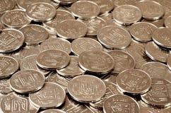 Ένας σωρός των νομισμάτων Ουκρανός Στοκ Φωτογραφίες