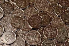 Ένας σωρός των νομισμάτων Ουκρανός Στοκ Εικόνες