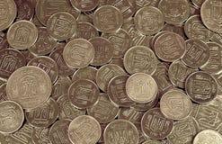 Ένας σωρός των νομισμάτων Ουκρανός Στοκ Εικόνα