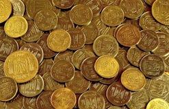 Ένας σωρός των νομισμάτων Ουκρανός Στοκ Φωτογραφία
