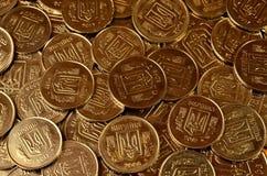 Ένας σωρός των νομισμάτων Ουκρανός Στοκ εικόνες με δικαίωμα ελεύθερης χρήσης