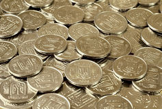 Ένας σωρός των νομισμάτων Ουκρανός Στοκ φωτογραφία με δικαίωμα ελεύθερης χρήσης