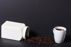 Ένας τέλειος μαύρος καφές Στοκ Φωτογραφία