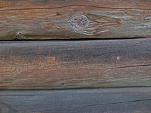 Ένας τοίχος κούτσουρων Στοκ Φωτογραφία