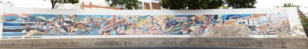 Ένας τοίχος με την τέχνη Στοκ Φωτογραφία