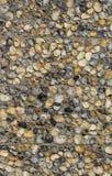 Ένας τοίχος πετρών χαλικιών φιαγμένος από φυσικές πέτρες Στοκ εικόνες με δικαίωμα ελεύθερης χρήσης